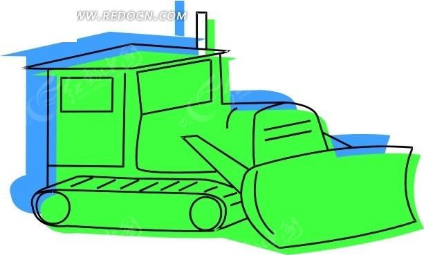 玩具推士机背景素材