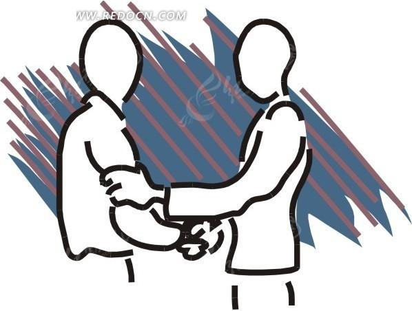 握手卡通图片_拥抱卡通图片