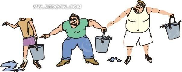 木水桶卡通图片