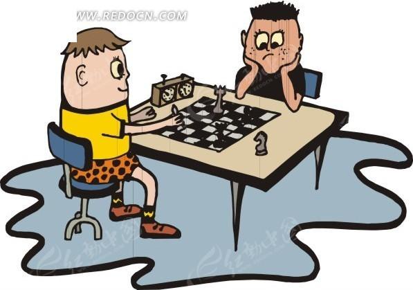 下国际象棋的小朋友