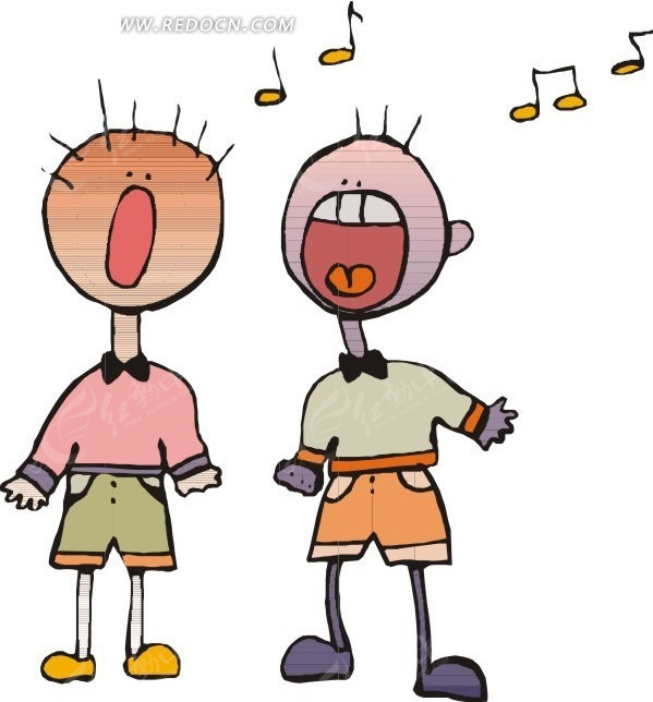 唱歌的卡通人物