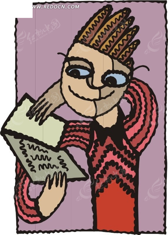 读书卡片手绘素材