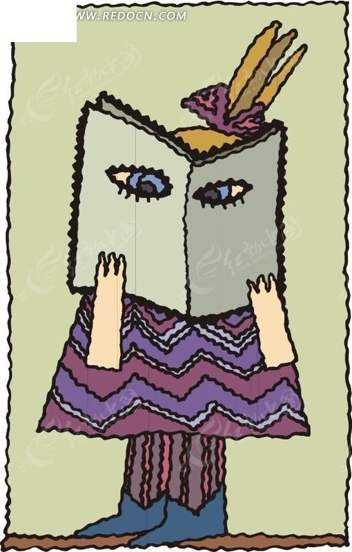 看书的小孩
