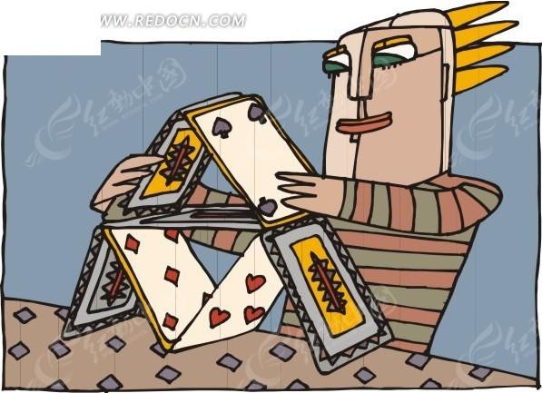 日历牌上的卡通人物玩偶 扑克牌 纸牌 赌博游戏   相关素材