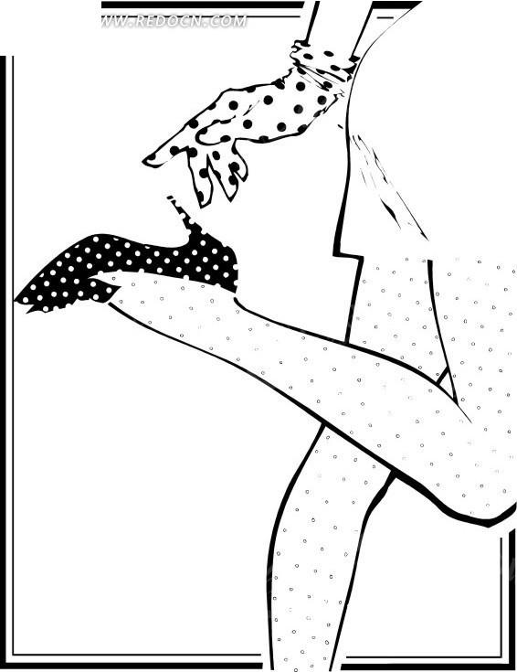 女性脚上的高跟鞋特写插画其他免费下载_生活用品素材