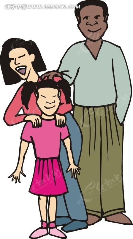 女儿和爸爸妈妈