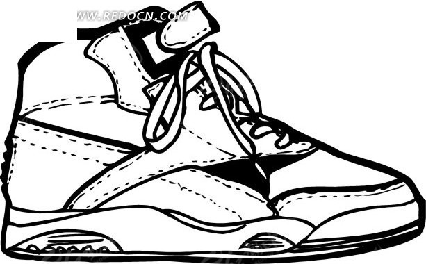 生活百科 生活用品 矢量 矢量素材 卡通 插画 鞋 鞋子 篮球鞋 球鞋