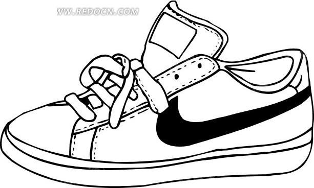 一只褐色鞋子插画_生活用品_红动手机版