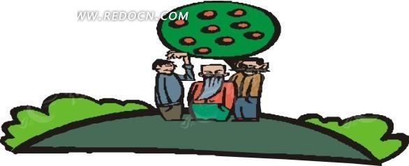 苹果树下的人图片
