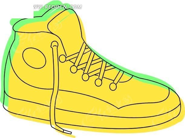 黄色复古球鞋插画; 新款时尚双层设计内增高鞋垫 强烈推荐_时尚鞋子