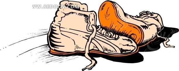 手绘鞋子插画图片