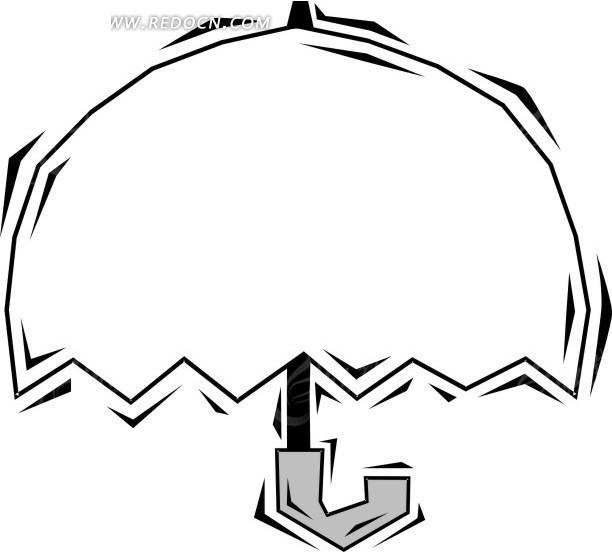 雨伞图片简笔画手绘