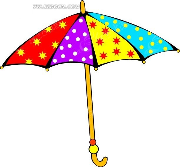 手绘彩色遮阳伞