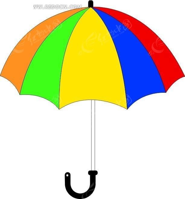 太阳伞矢量图_生活用品