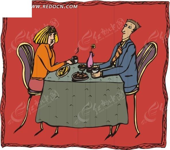 情侣吃东西; 情侣吃饭卡通图片分享_第9页_琪琪卡通;