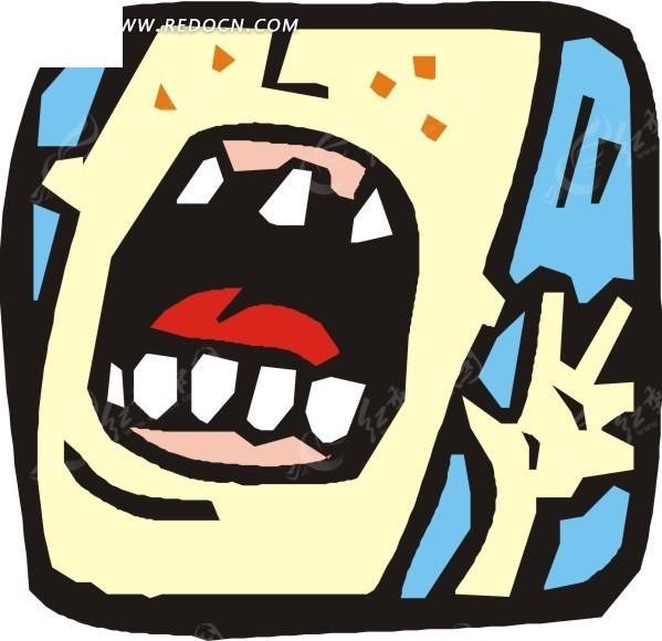 素材下载 矢量素材 矢量人物 日常生活 > 手绘张嘴打哈气的人