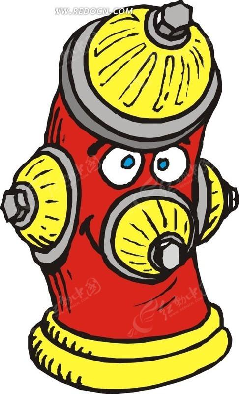 手绘消防栓图片