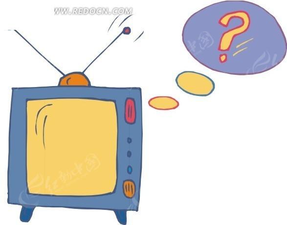 手绘电视机