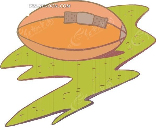 手绘橄榄球