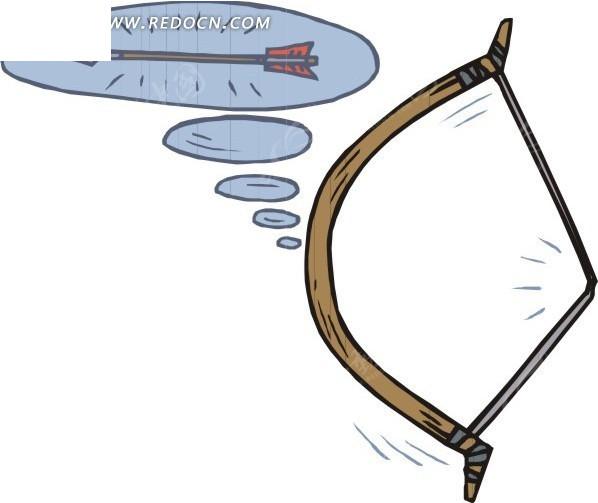 手绘弓和箭
