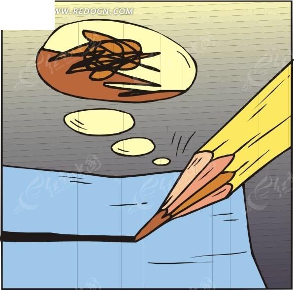 彩色铅笔名片设计 彩色铅笔 彩色铅笔背景 铅笔 美术铅笔 彩色铅笔