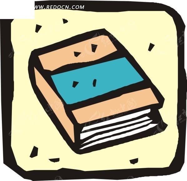 手绘一本书图片