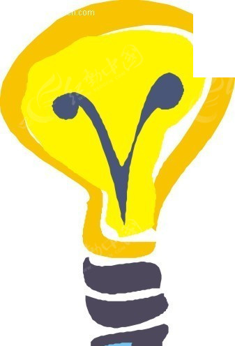 电灯泡卡通插画图片