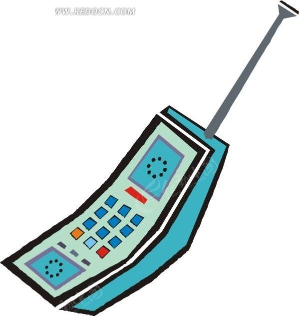 eps素材 矢量 插画 手绘 大哥大 手机 电话 免费下载 生活用品 生活