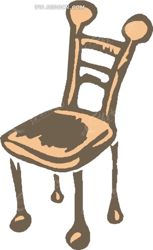 手绘椅子矢量图