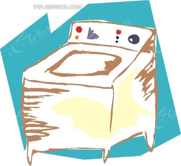 手绘洗衣机