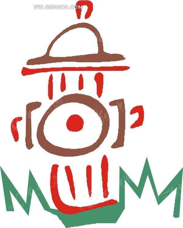 幼儿园手绘图标q