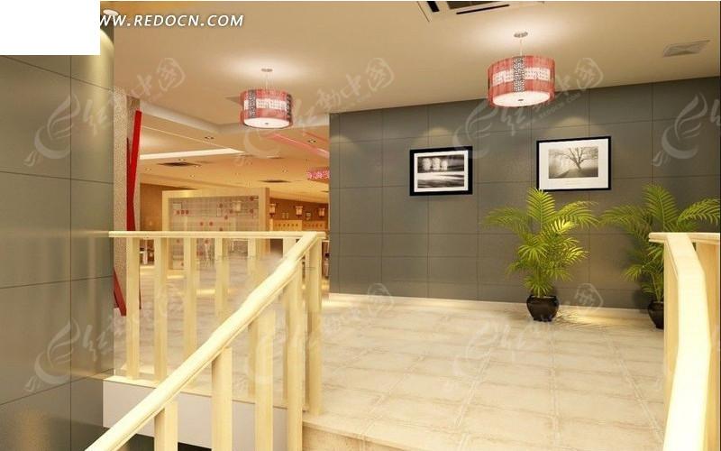 楼梯口玄关装修设计效果图
