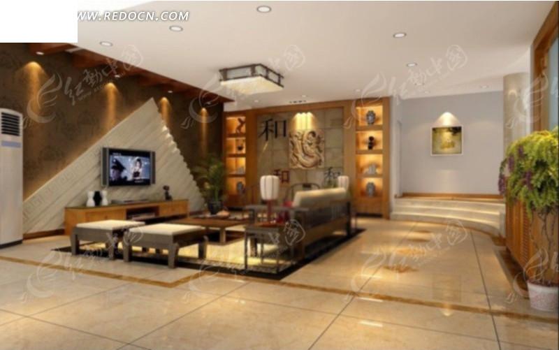 三角电视墙客厅装修设计效果图