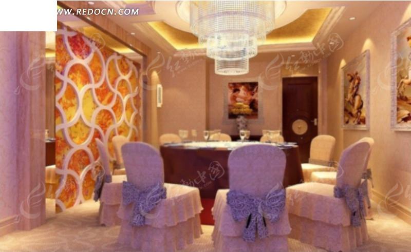 豪华餐厅包厢设计效果图