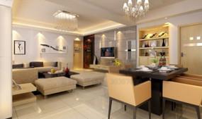 现代简洁风格客厅效果图3d模型 max
