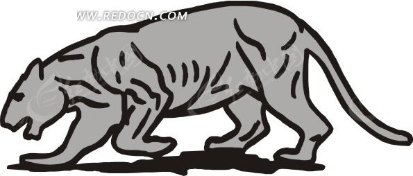 手绘一只灰色的狮子eps免费下载