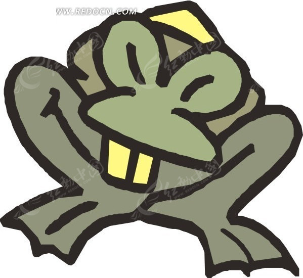 涂鸦  青蛙  手绘  插画