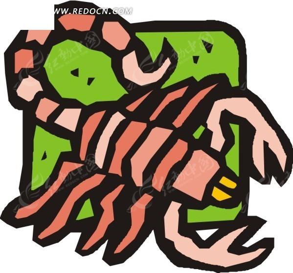 手绘 蝎子 动物 动物图片 矢量素材 eps