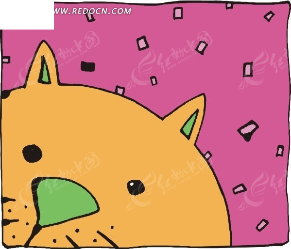 卡通猫插画图标矢量矢量图