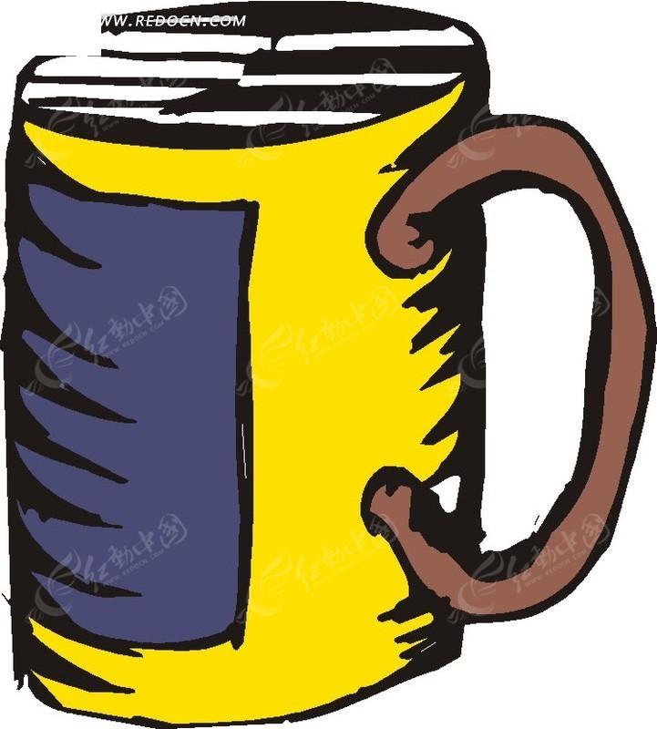 杯子 酒杯  卡通画