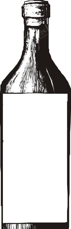 手绘一个玻璃瓶子