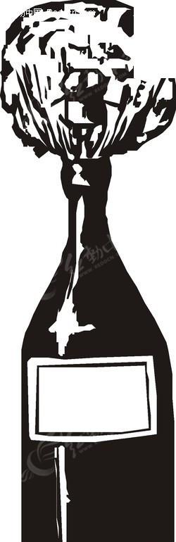 手绘一个酒瓶eps素材免费下载(编号1755159)_红动网