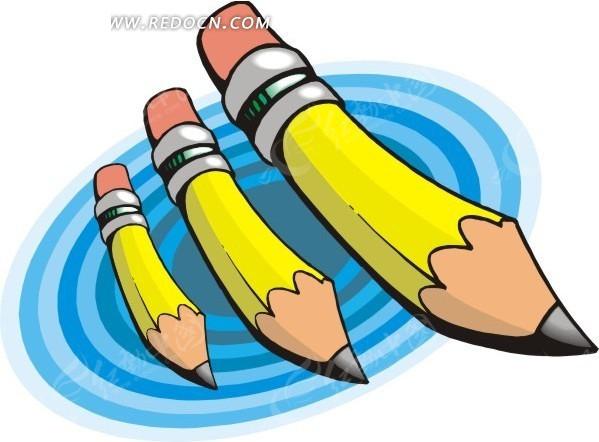 黄色的卡通铅笔