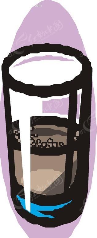 一个玻璃杯子手绘素材图片