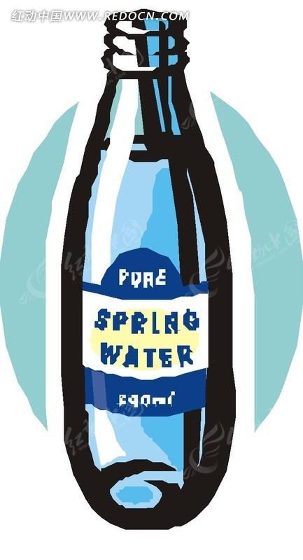 玻璃瓶 瓶子 卡通画