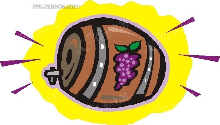一个葡萄酒桶图片