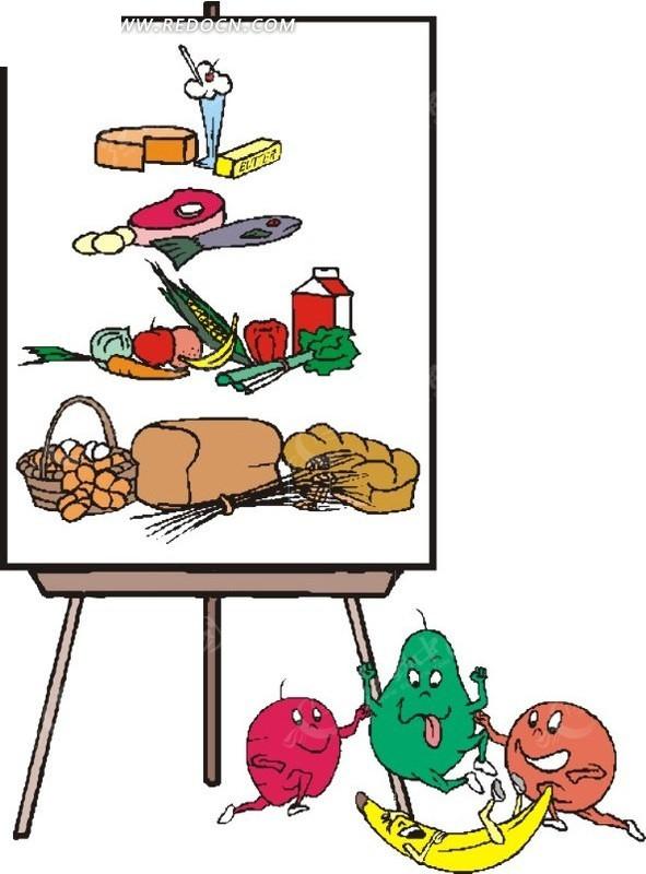 免费素材 矢量素材 矢量人物 卡通形象 画板前的水果  请您分享: 素材