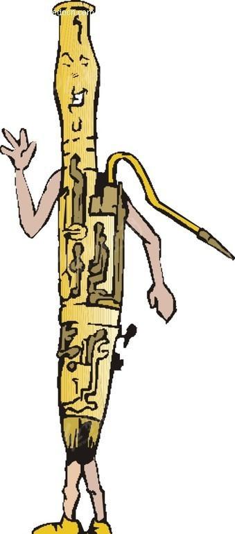 乐器彩铅手绘插画