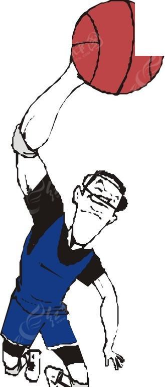篮球 体育运动 卡通画