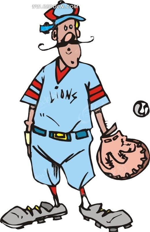棒球运动员卡通矢量